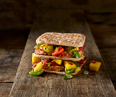 Warburtons Fiery Club Sandwich