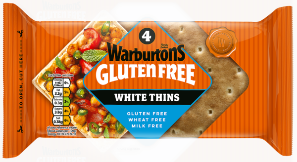 4 White Sandwich Thins