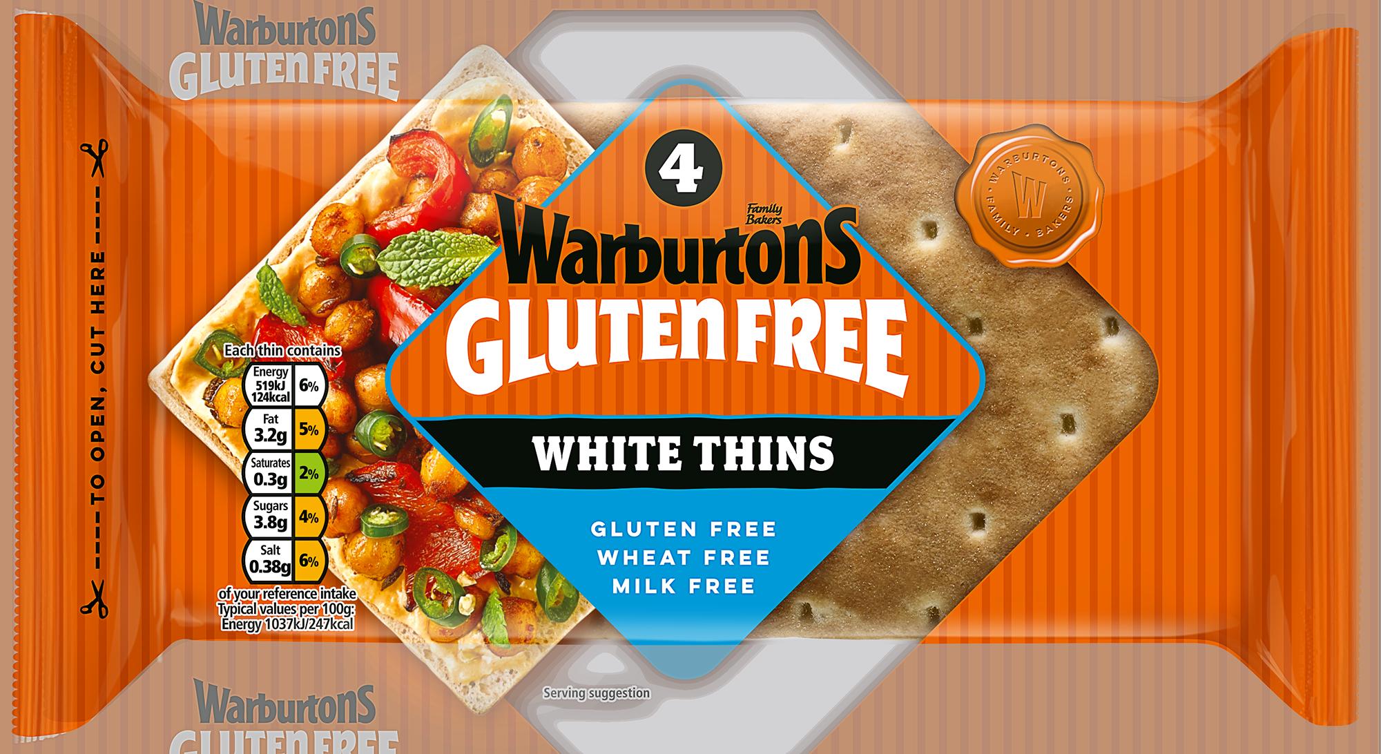 4 White Sandwich Thins