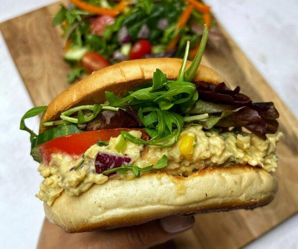 Vegan Chickpea 'Tuna Bagels