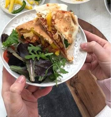 Vegan Pizza #TortillaTrend Wrap