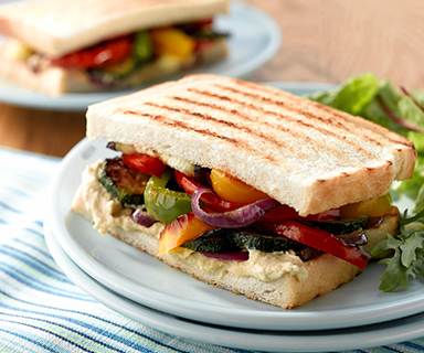 Warburtons Houmous Toastie with Chargrilled Vegetables