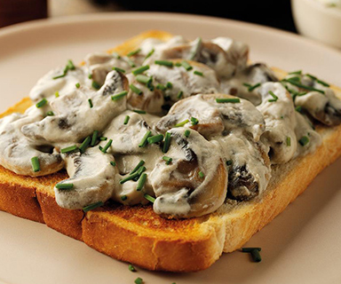Creamy Mushrooms on Warburtons Toast