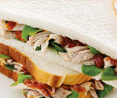 Warburtons Pork and BBQ Sauce Sandwich