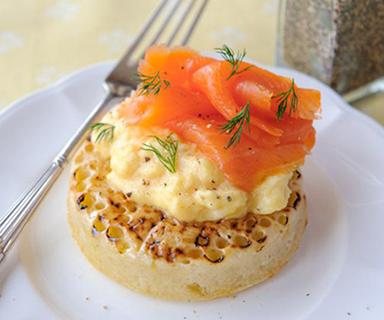 Warburtons Scrambled Egg and Smoked Salmon Crumpets