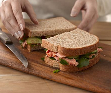 Warburtons Hot Smoked Salmon Sandwich