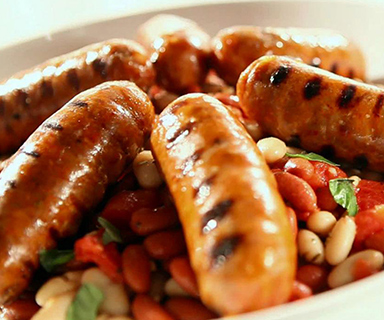 Warburtons Sausages and Beans on Toast