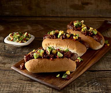 Warburtons Tex Mex Hot Dogs
