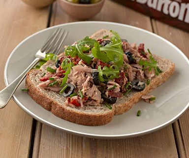 Warburtons Tuna and Olives Open Sandwich