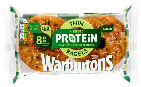 Warburtons 4 Protein Thin Bagels