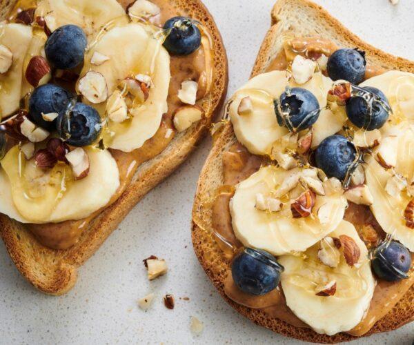 Peanut Butter on Warburtons Gluten Free Toast