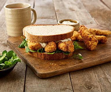 Posh Fish Finger Warburtons Butty