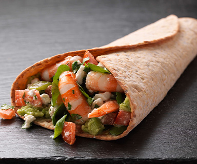 Prawn, Avocado and Feta Warburtons Wraps