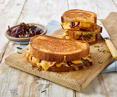 Tripled Grilled Cheese Warburtons Sandwich