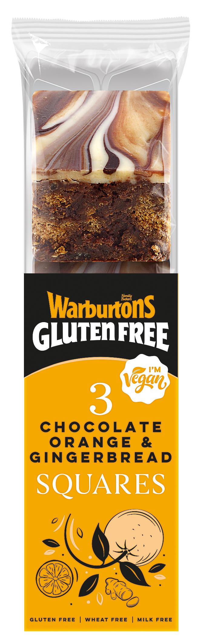 Warburtons Gluten Free Chocolate Orange and Gingerbread Squares