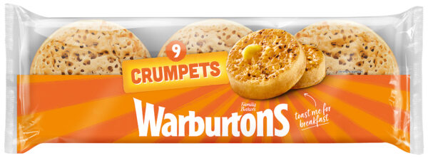 Warburtons 9 Crumpets